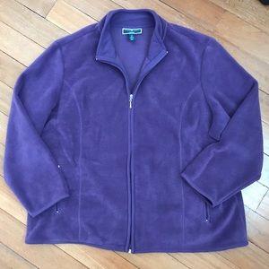 Karen Scott Sport Full Zip Fleece Jacket